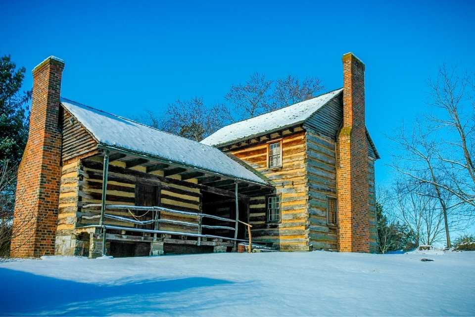 Cobb House in Snow